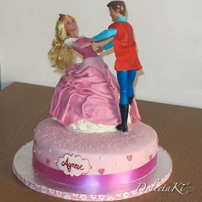 torta vestito principessa aurora e principe
