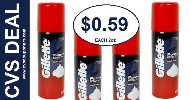 Gillette Shave Foam CVS Deal 714-720