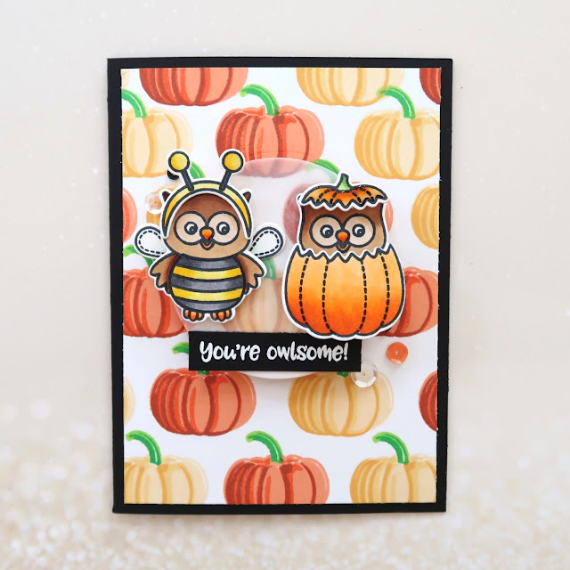 Sunny Studio Stamps: Happy Owl-o-ween and Pretty Pumpkins Cards and Video by Laura Sterckx