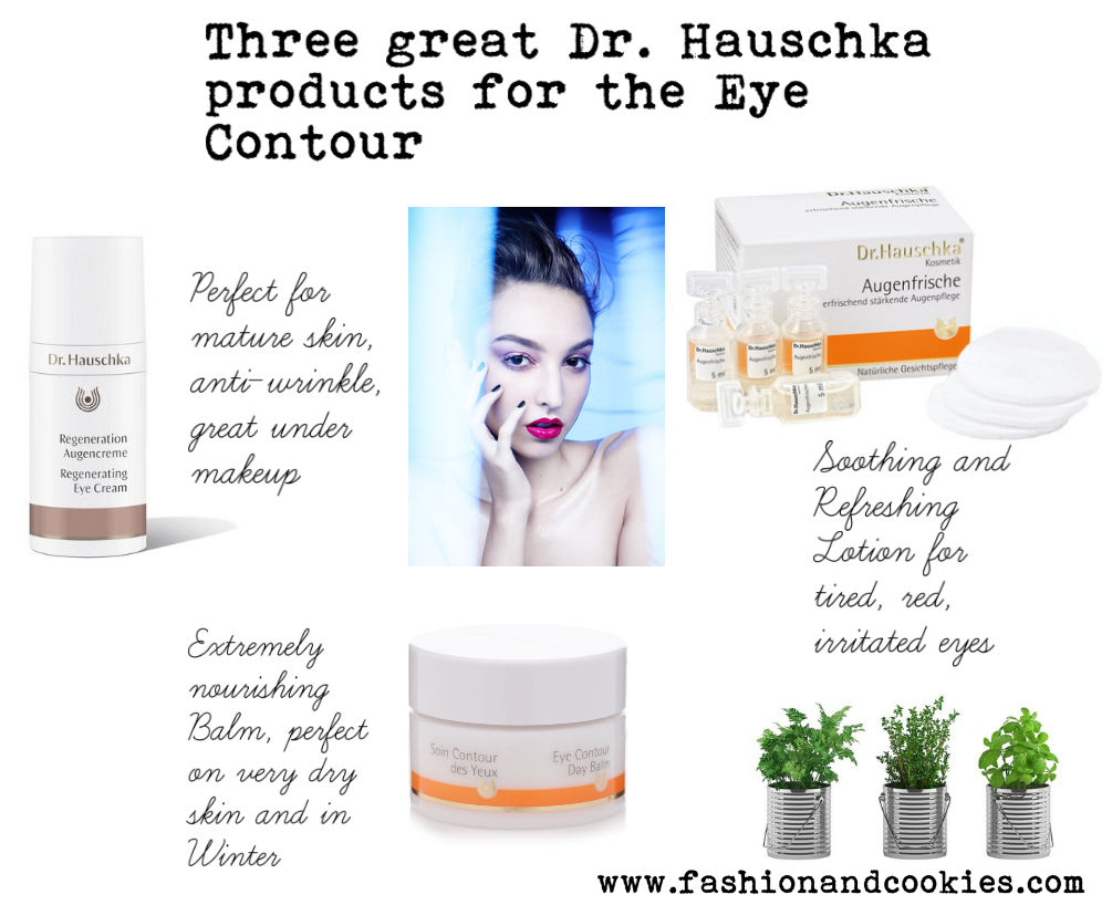 Best three Dr. Hauschka eye contour natural skincare products on Fashion and Cookies beauty blog, beauty blogger