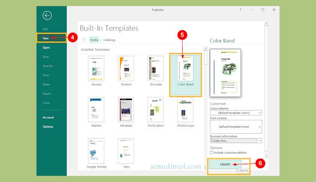 cara membuat katalog di microsoft publisher
