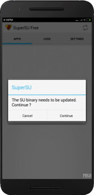 oepn SuperSU App