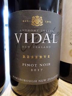 Anthony Joseph Vidal Reserve Pinot Noir 2017 (90 pts)