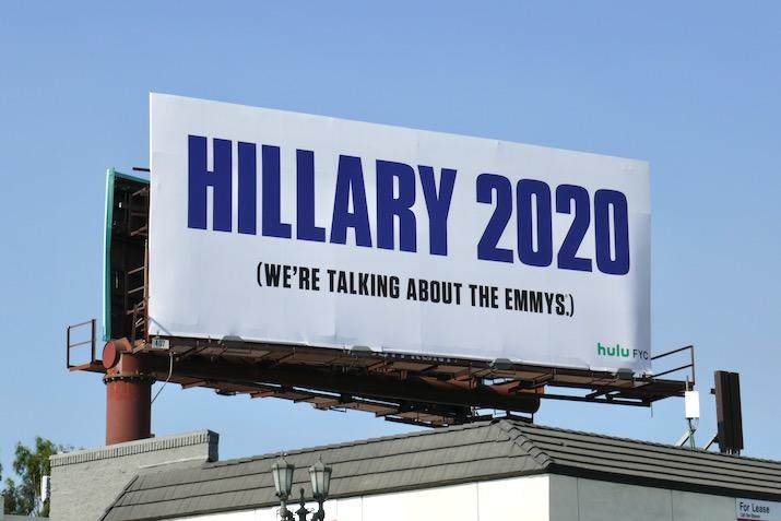 Hillary 2020 Emmy nominee billboard