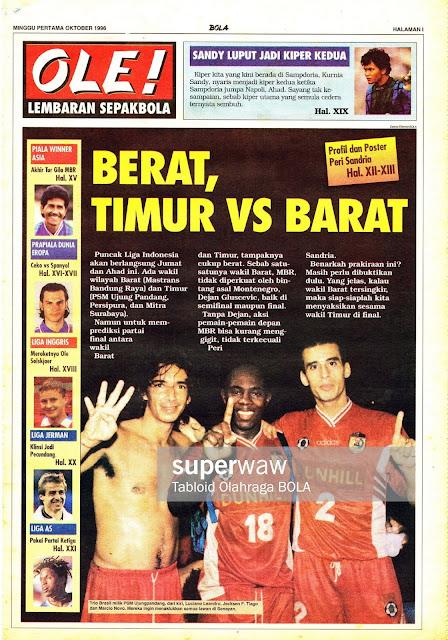 OLE! LEMBARAN SEPAKBOLA: BERAT TIMUR VS BARAT