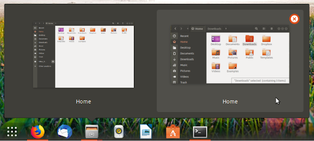 Gnome Shell Dash to Panel old window previews