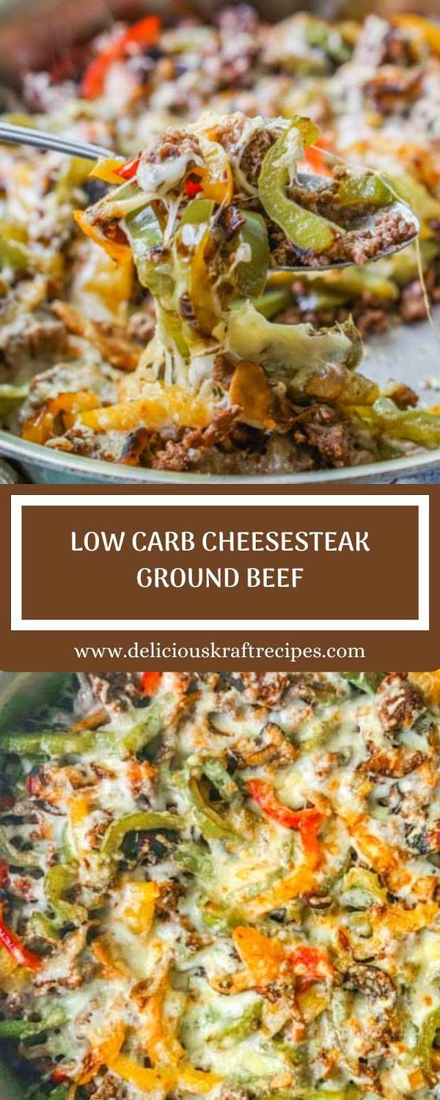 LOW CARB CHEESESTEAK GROUND BEEF