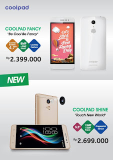 Harga Coolpad Fancy dan Coolpad Shine