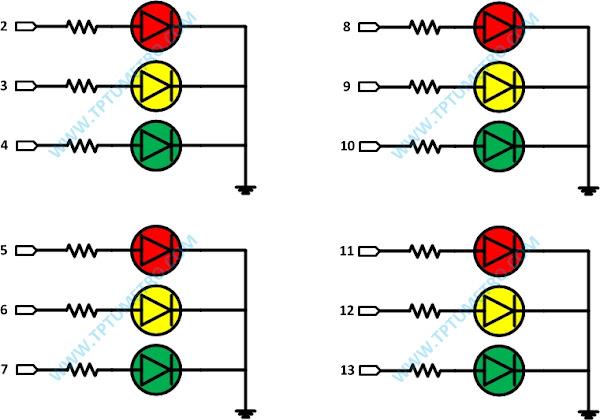 Wiring Lampu Merah Empat Jalan