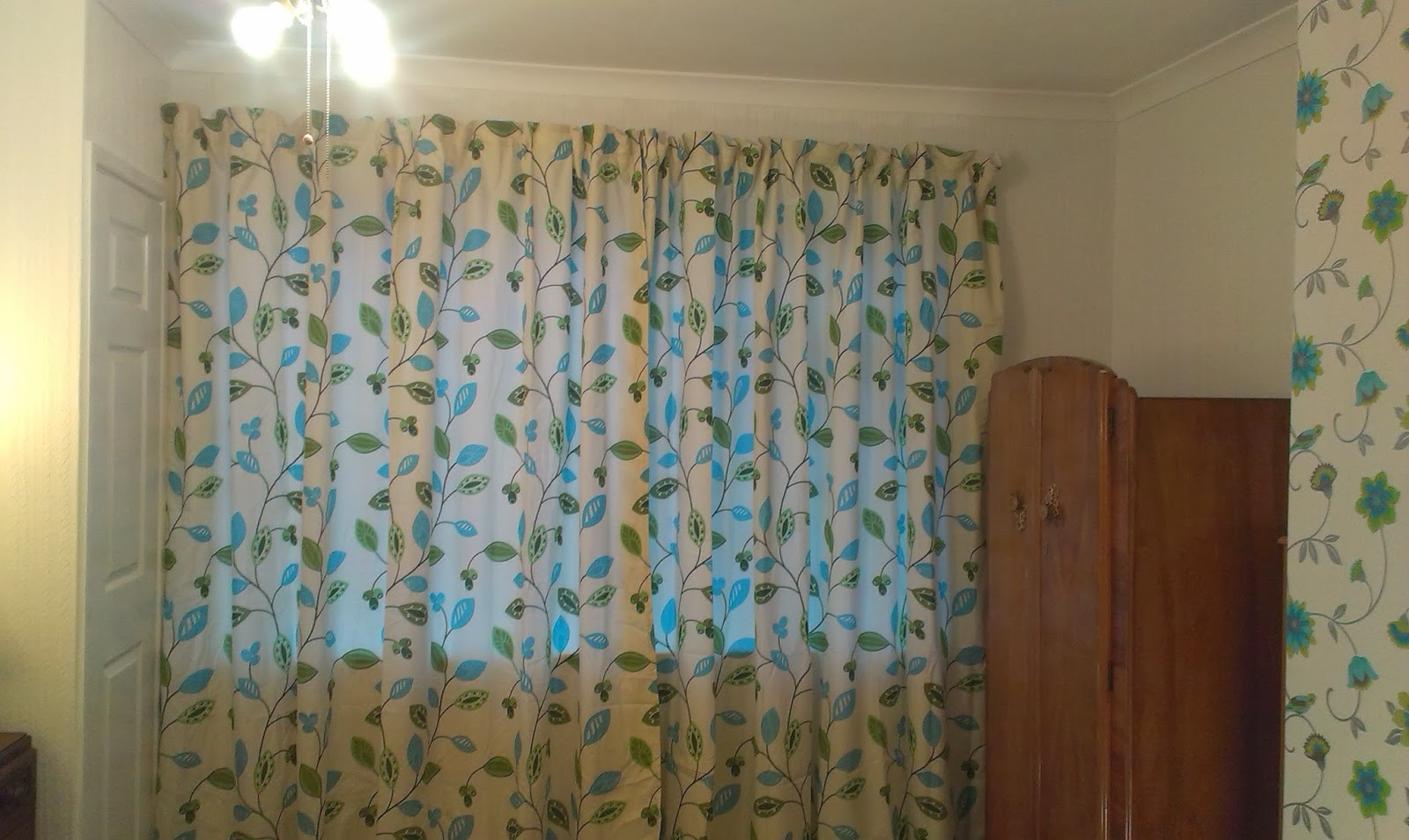 New Blue and Green Curtains