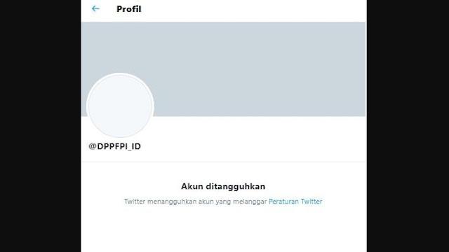 Akun FPI Ditangguhkan Twitter, Dianggap Langgar Aturan