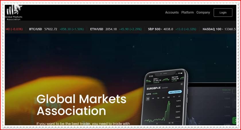 Мошеннический сайт gm-associations.com – Отзывы, развод! Компания Global Markets Association мошенники
