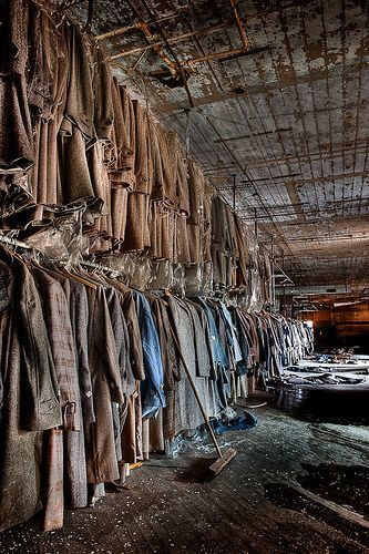 An abandoned clothing factory in Maryland.