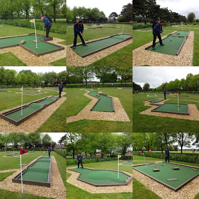 Eaton Park Crazy Golf course in Norwich (May 2017)