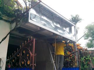 Rangka banner neon box dari baja ringan galvalum