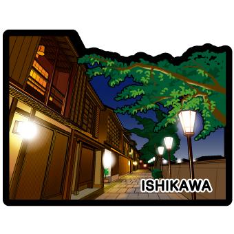 gotochi postcard Kazuemachi Chayagai