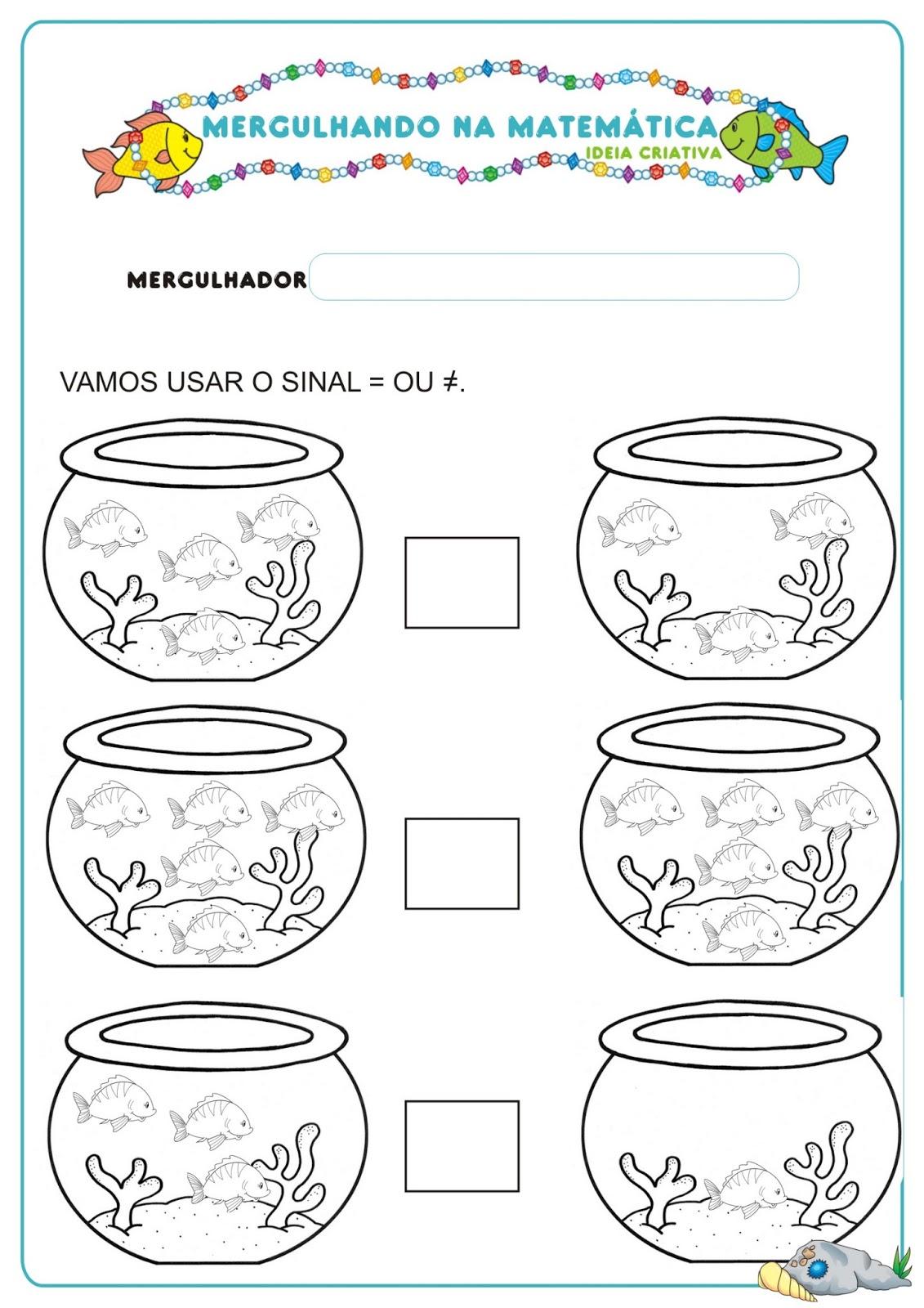 Caderno De Atividades Matematica Projeto No Fundo Do Mar Gratis