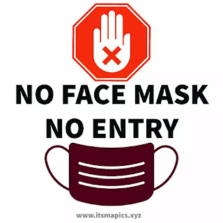 Free Face mask required sign