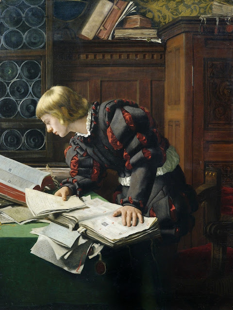 Adolph Tidemand - A Young Scholar in His Study