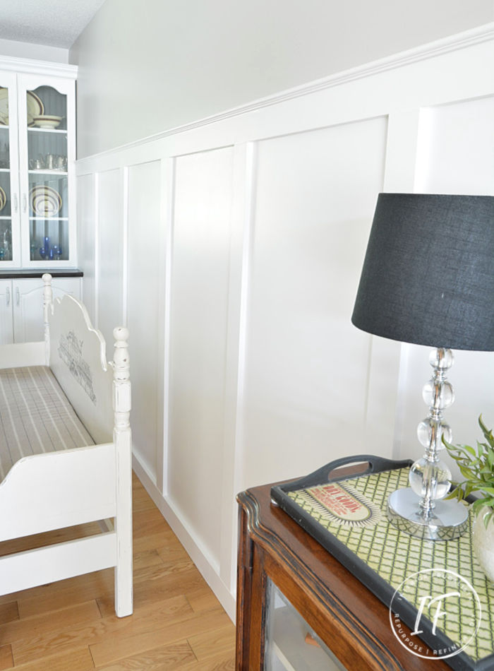 How to install a beautiful board and batten wainscotting accent wall in any room of your home with the formulas for standard and non-standard walls.