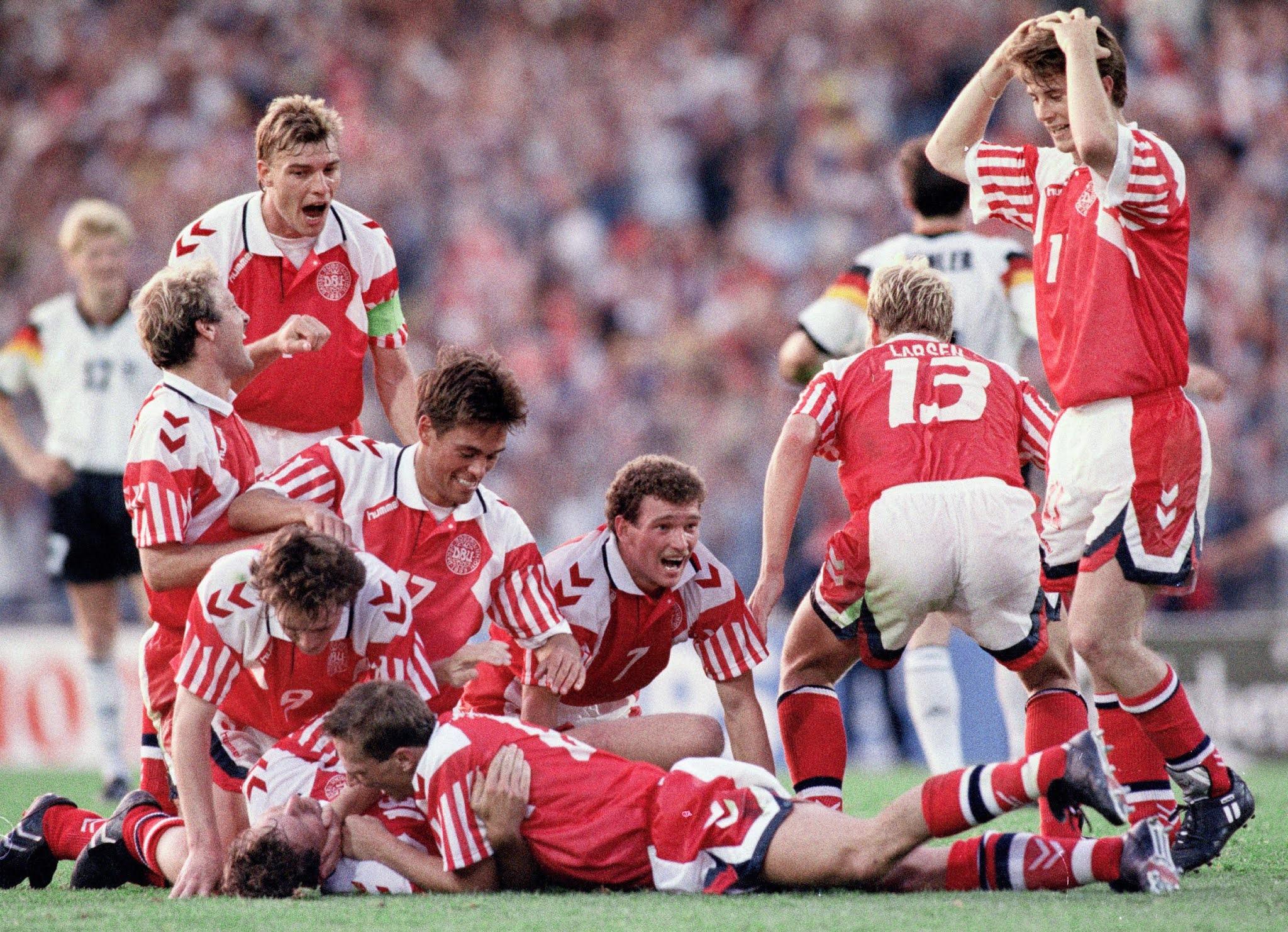 Denmark's victorious 1992 team
