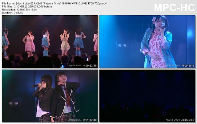 AKB48 'Pajama Drive' 191026 KKS10 LIVE 1700