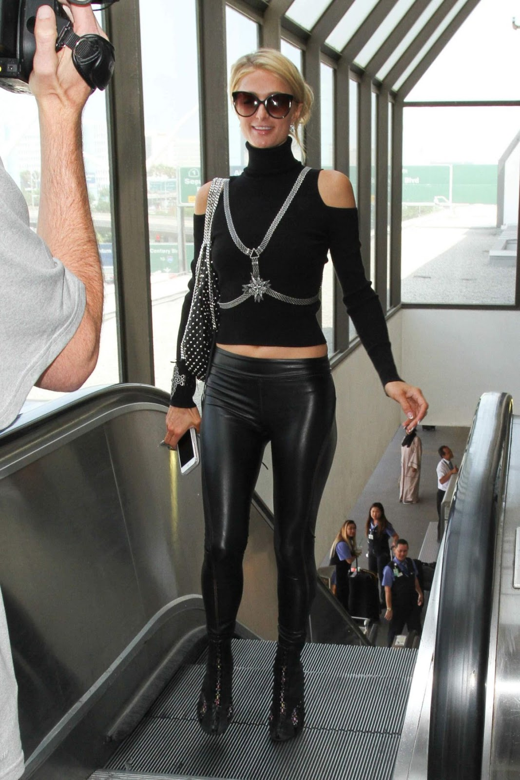Paris Hilton with Sunglasses At Lax Airport In Los Angeles
