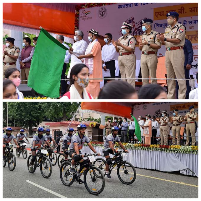 मुख्यमंत्री ने एसएसबी की साइकिल रैली के 85 सदस्यीय दल को किया रवाना