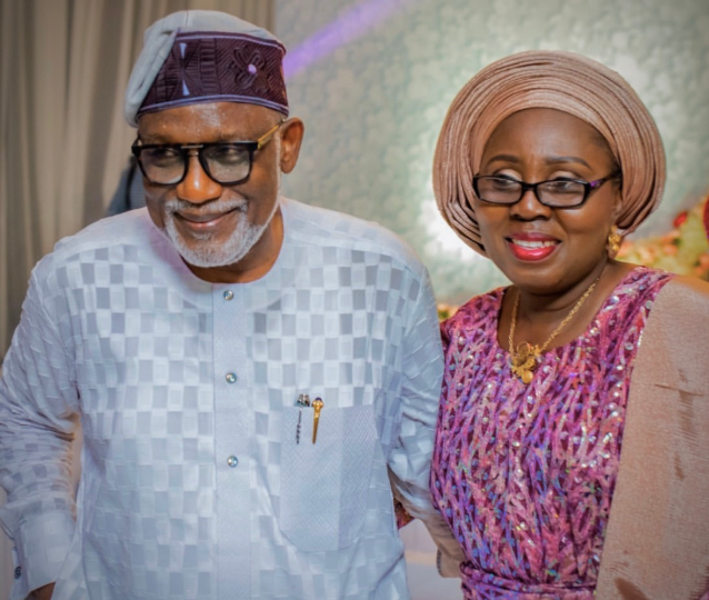 Ondo state governor, Rotimi Akeredolu and his wife, Betty,