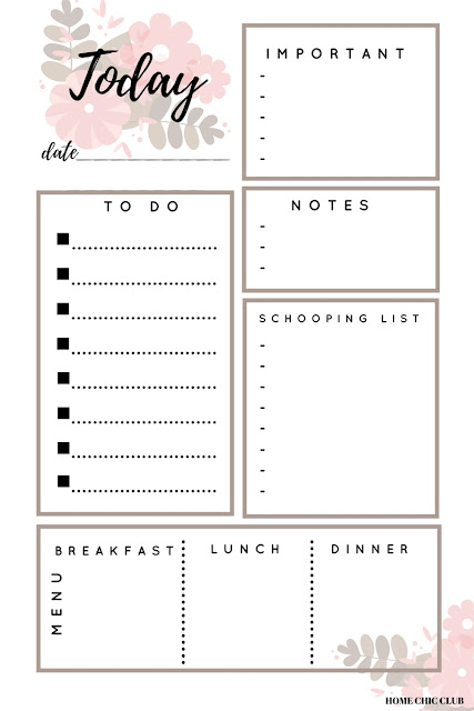 Free Planner Printables - Daily Planner Printable