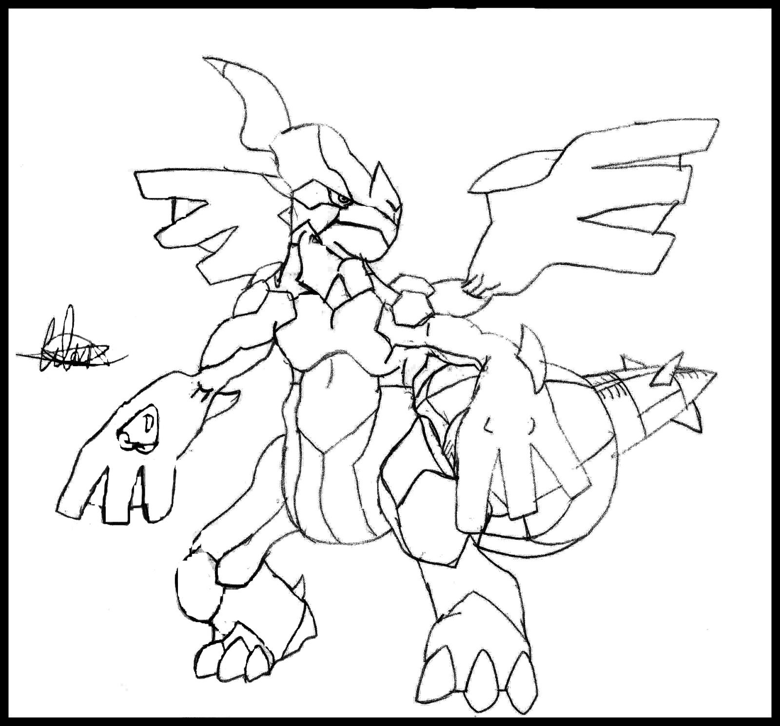 Kleurplaten Pokemon Zekrom.Pokemon Zekrom Coloring Page