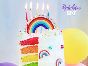 Rainbow cake ou gâteau arc-en-ciel - Version (plus) légère !