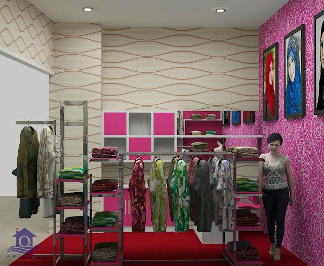 Desain Interior Toko Kendil Ayu Muslimah di Solo