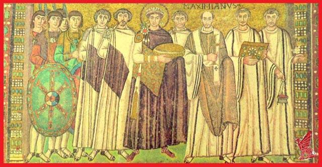 Justinian fresco at San Vitale byzantium.filminspector.com
