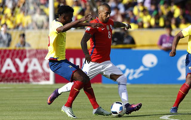Ecuador y Chile en Clasificatorias a Rusia 2018, 6 de octubre de 2016