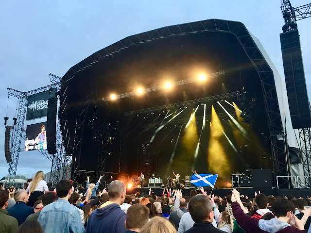 The Wombats performing at the 2018 Glasgow Summer Sessions, in Bellahouston Park