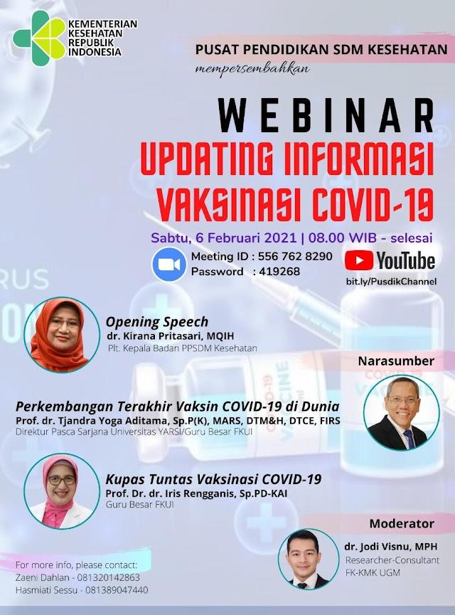 Free Webinar   Updating Informasi Vaksinasi Covid-19