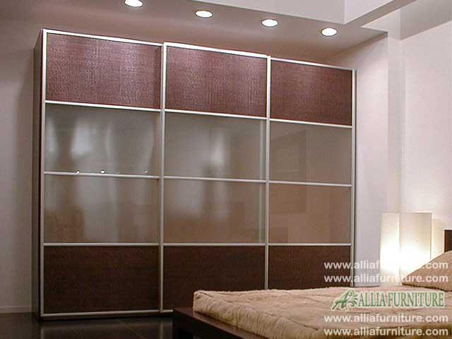 lemari pakaian minimalis modern 3 pintu nova