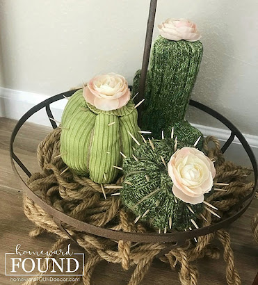 boho, boho style, crafting, sweater crafts, sweet sweater succulents, pool noodles, cacti, succulents, diy, decorating, home decor, sweaters, repurposing, upcycling, tutorial