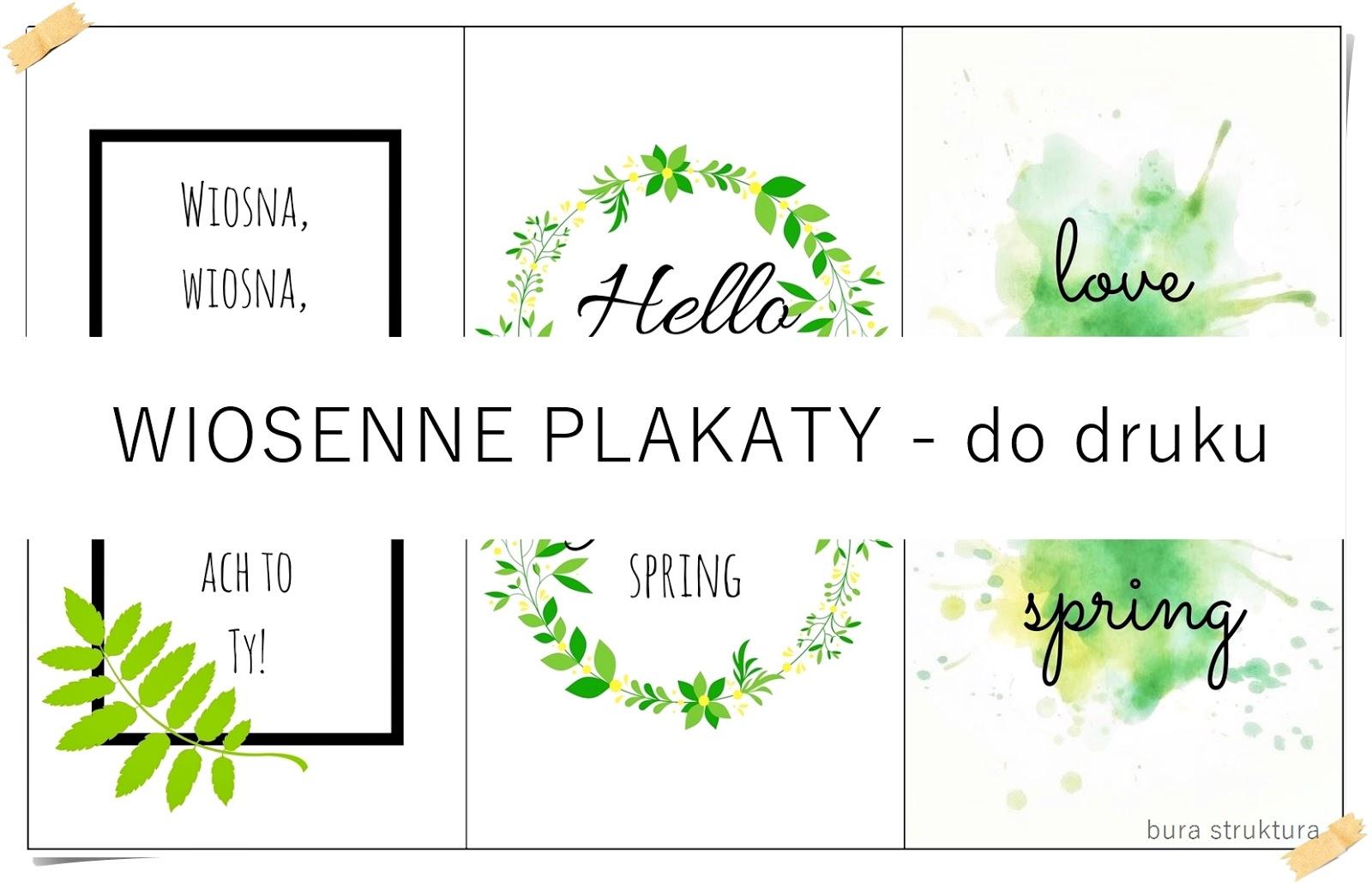 Wiosenne plakaty do DRUKU