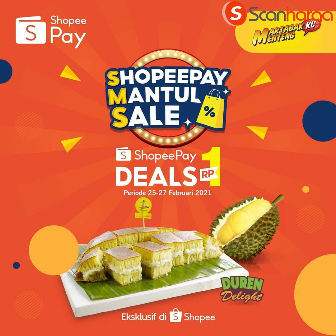 MARTABAKKU MENTENG Promo Mantul Sale! Beli Voucher ShopeePay cuma Rp. 1