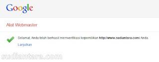 Cara Verifikasi Blog Wordpress Self Hosting Pada Google Webmaster Tool