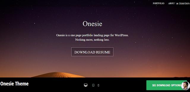 ONESIE: FREE WORDPRESS THEME FOR LANDING PAGE