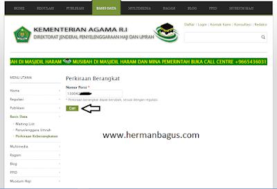 Isi Nomor Porsi Haji Website Cara Cek Status Perkiraan Berangkat Haji - Hermanbagus- paint 2