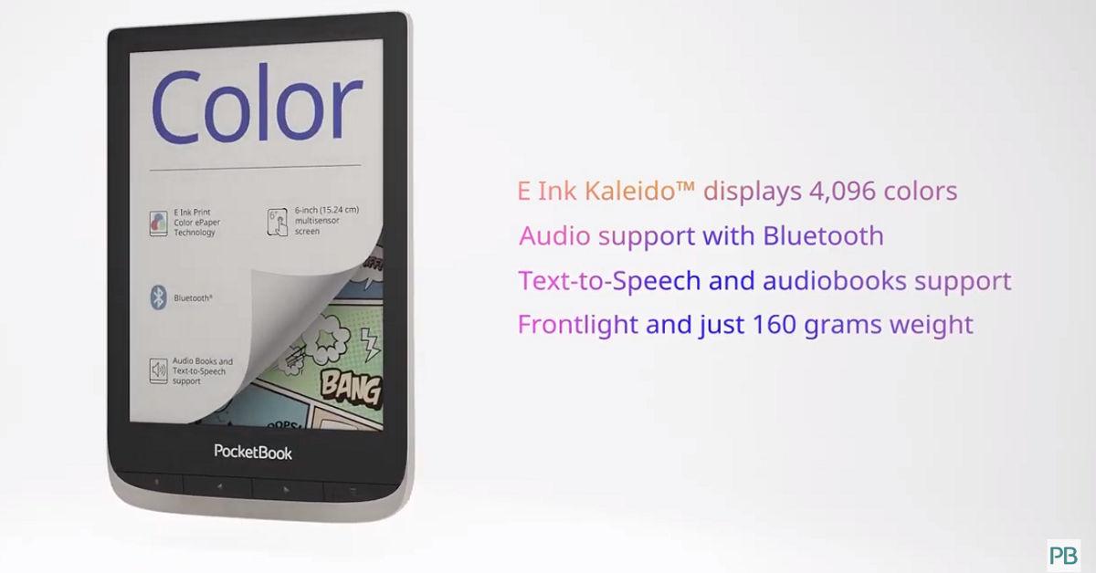 PocketBook Color z ekranem kolorowym Ekranem E Ink Kaleido
