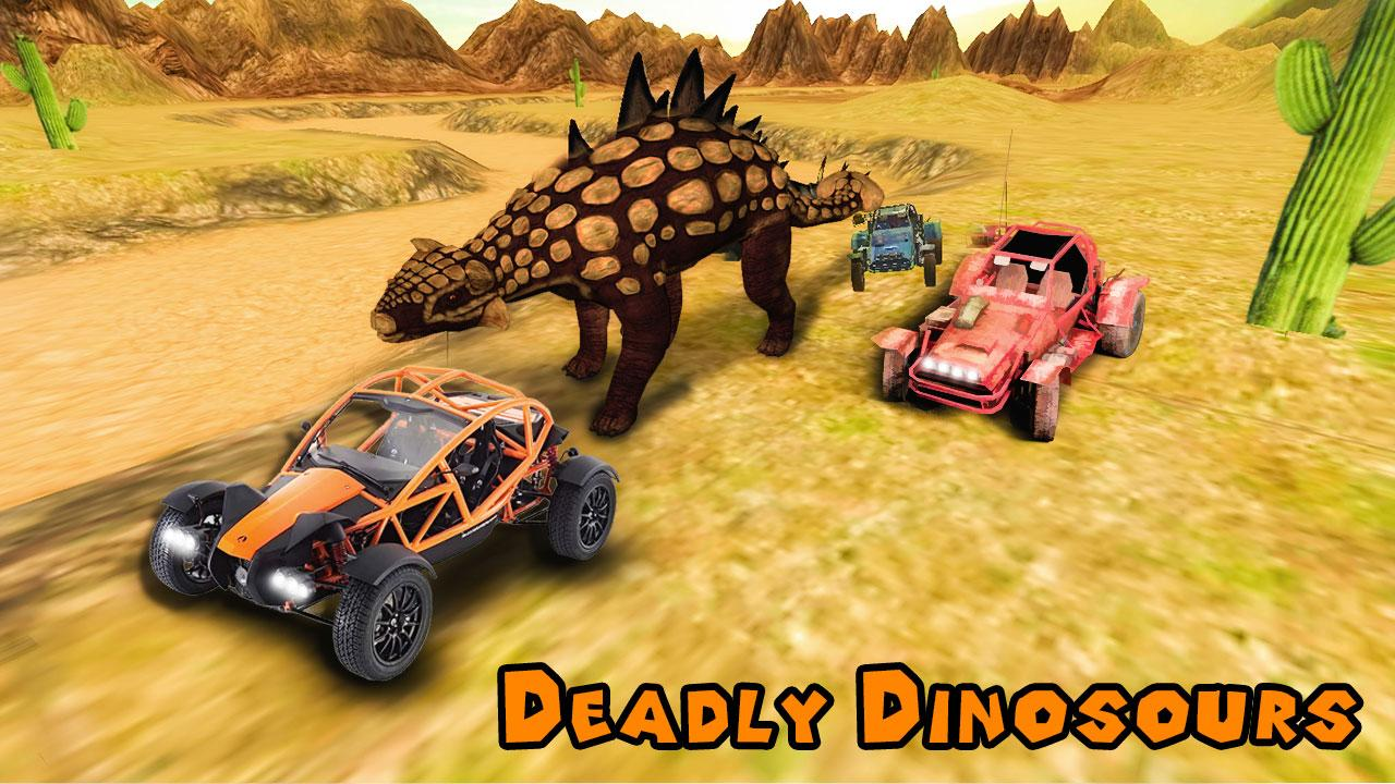 Dino World Car Racing MOD APK terbaru