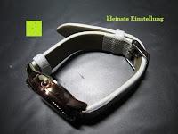 kleinste Einstellung: Ostan Damen Uhren Mode Weiß Leder Runde Zifferblatt mit Zirkonia Armkette Armband Armbanduhr Uhr