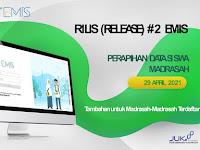 INFORMASI RILIS (RELEASE) #2 EMIS PERAPIHAN DATA SISWA MADRASAH (29 APRIL 2021)