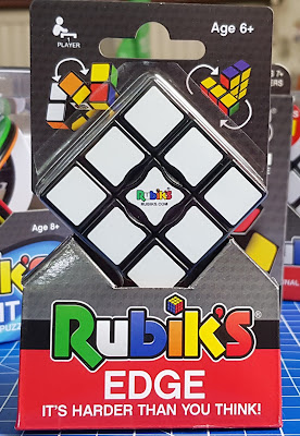 Rubik's Edge pack shot with view of single layer Rubik's cube inside