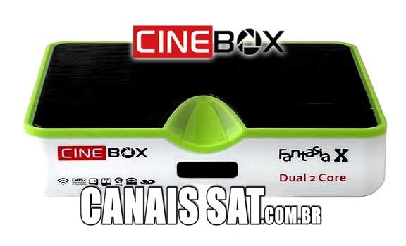 Cinebox Fantasia X Dual Core Atualização - 31/05/2021